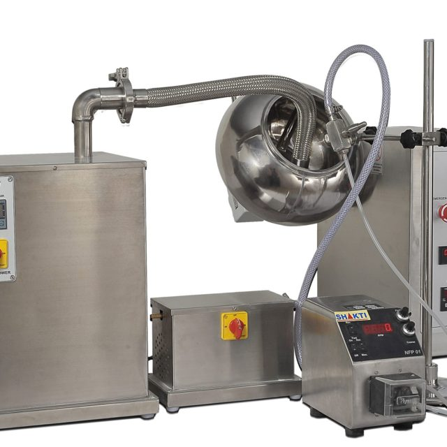 SCPH-Coating Pan with Peristaltic Pump, Spraying & Drying System