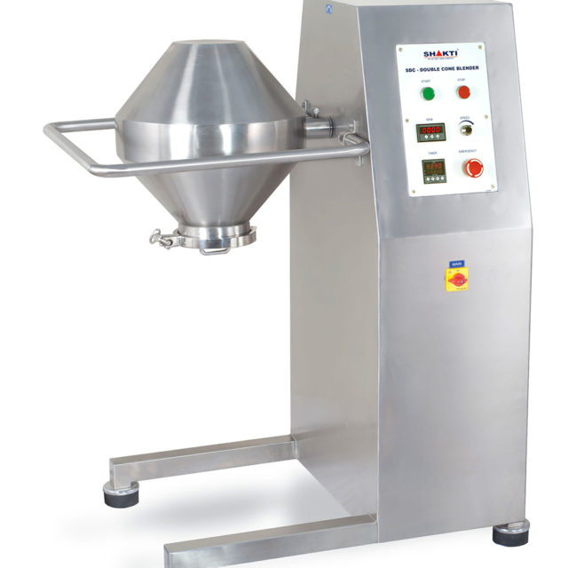 R & D Double Cone Blender – (10Kgs, 15Kgs, 20Kgs, 30 Kgs.)